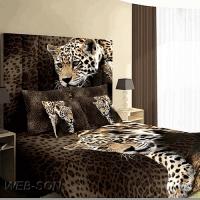 """Постельное белье леопард """"Cheetan"""" 3D сатин"""