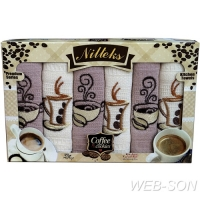 "Полотенца с вышивкой ""Coffe House"" Nilteks Турция"