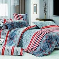 "Синее белье для кровати ""Venzall 1"" сатин"