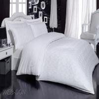 Белое постельное белье сатин
