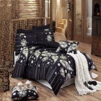 Черный комплект постельного белья