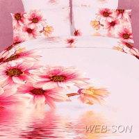 """Необычное постельное белье """"Mirage"""" сатин 3D"""