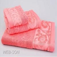 "Розовые полотенца ""Allegro"" махра Arya"
