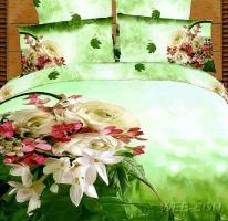 """Красивое постельное белье """"Весенний букет""""  сатин"""