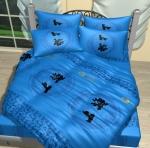 Синее постельное белье
