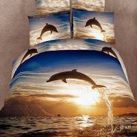 """Постельное белье с дельфином """"Delfin"""" сатин"""
