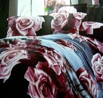 """Европейское постельное белье """"London Rose"""" евро бамбук"""