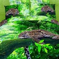 """Постельное белье евро с 4 наволочками """"Leopard"""" сатин"""