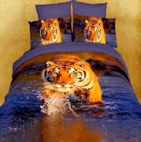 """Постельное белье с тигром """"King"""" сатин"""