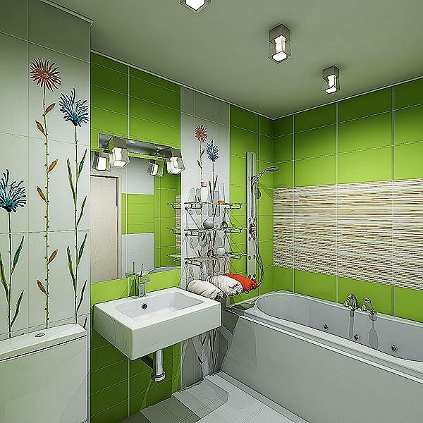 Элементы комфорта в интерьере ванной комнаты