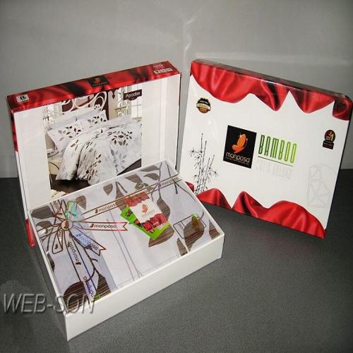 Упаковка постельного белья из бамбука Mariposa. Производства Турция.